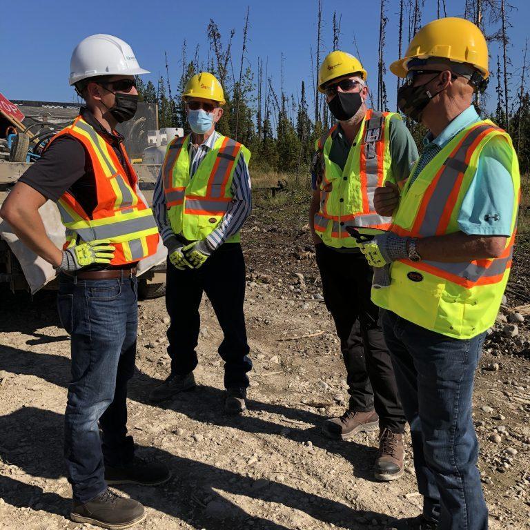 Kiel Giddens pipeline project site tour